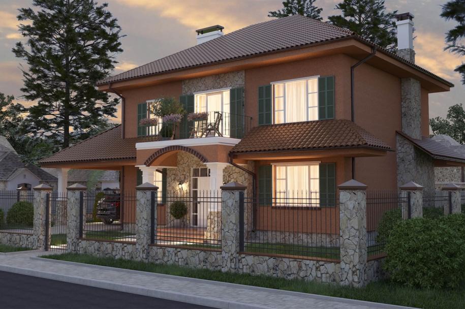 Mediterranean-style cottage (Suhoy Liman)