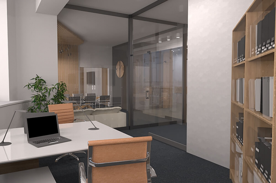 Office design project in w / a