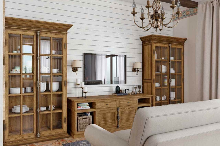 Interior design for a cottage in the Spanish style