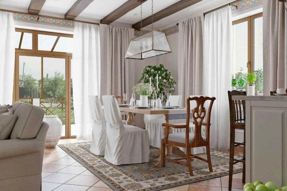 Дизайн інтер'єру для котеджу в іспанському стилі