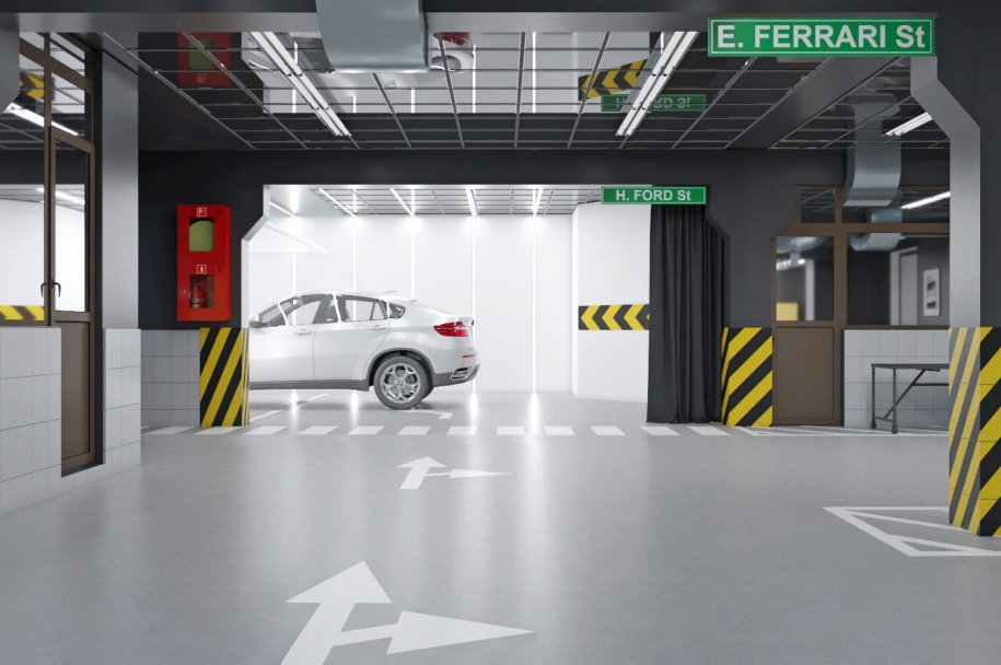 Design project of parking
