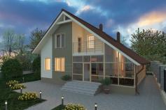 Private house in the  Novaya Dofinovka village
