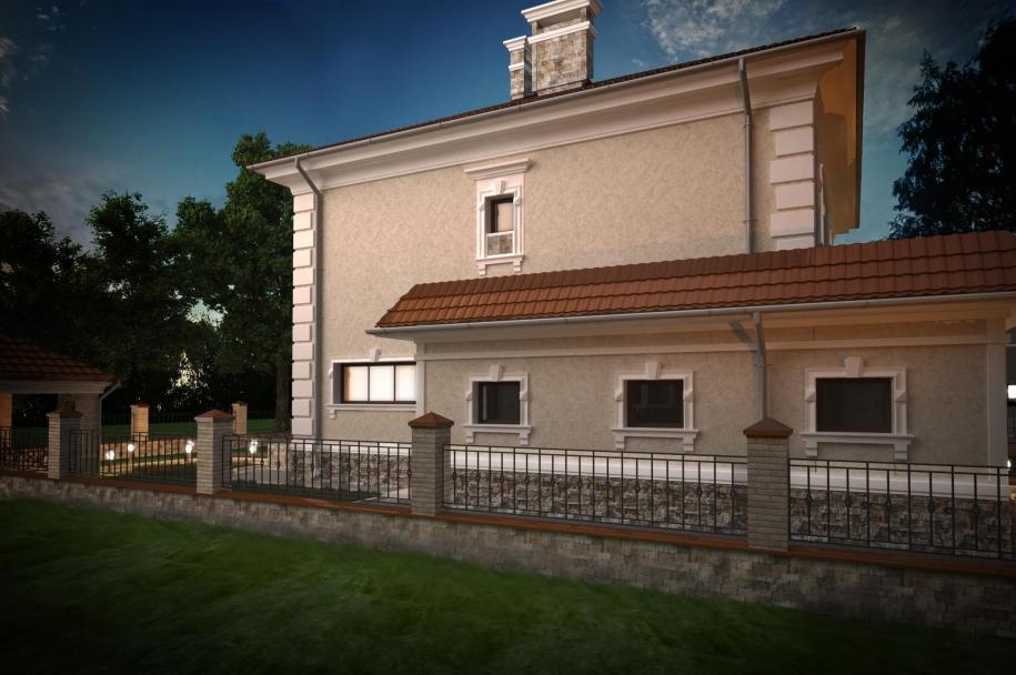 Two-storey private house on Orekhovaya street
