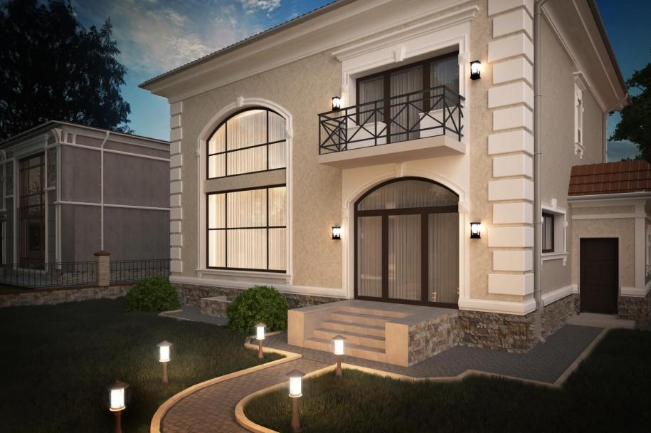 Двухэтажный частный дом на ул. Ореховая